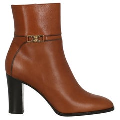 Celine  Women Ankle boots  Brown Leather EU 35