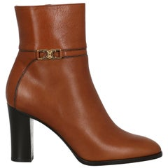 Celine  Women   Ankle boots  Brown Leather EU 36