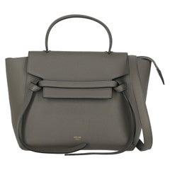 Celine  Women   Handbags Belt Bag Grey Leather