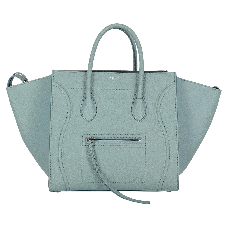 Celine  Women   Handbags Phantom Blue Leather