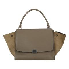 Celine Women  Handbags Trapeze Beige Leather