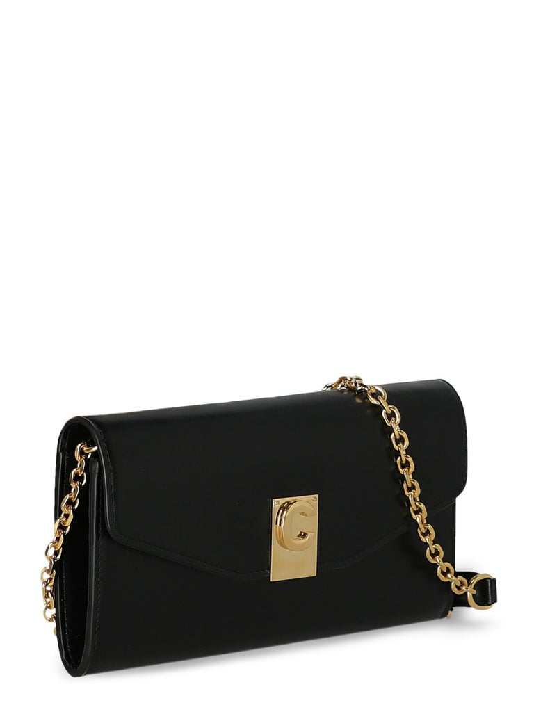 Celine  Women Shoulder bags Black Leather In Excellent Condition For Sale In Milan, IT