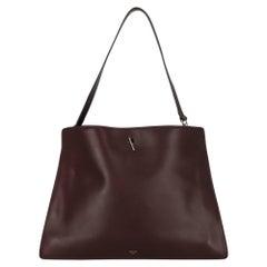 Celine Women  Shoulder bags Burgundy Leather