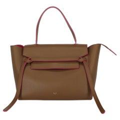 Celine Women's Handbag Belt Bag Brown/Pink Leather