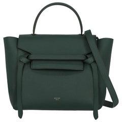 Celine Women's Handbag Belt Bag Green Leather