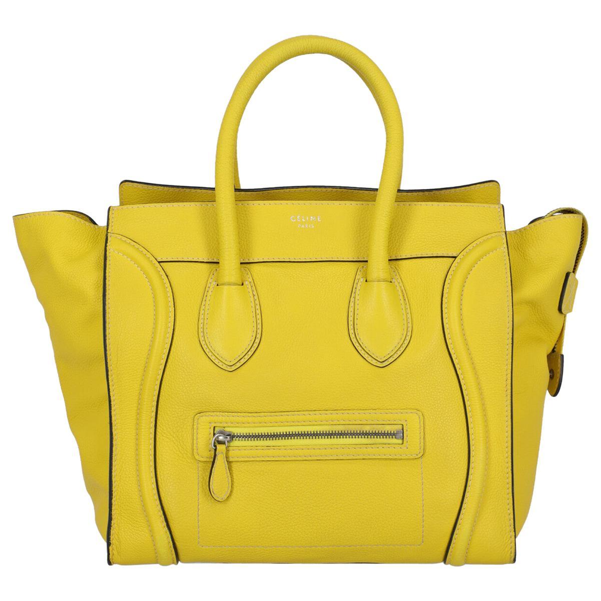 Celine Women's Luggage Yellow Leather