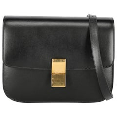 Celine Women's Shoulder Bag Black Leather
