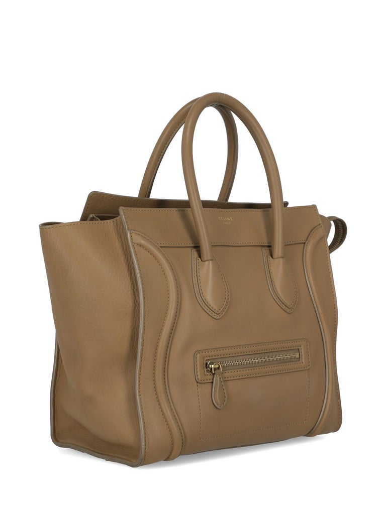 Celine  Women's Tote Bag Luggage Beige Leather In Fair Condition In Milan, IT