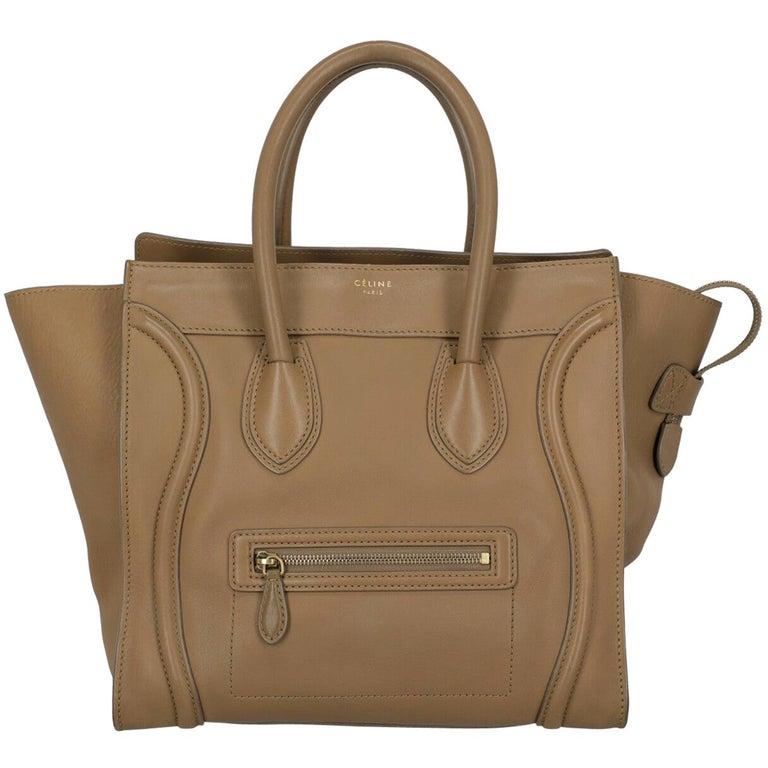 Celine  Women's Tote Bag Luggage Beige Leather