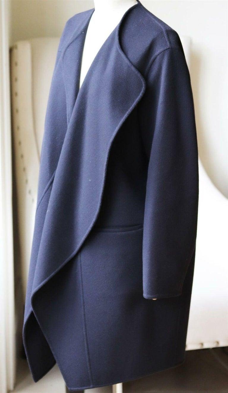Purple Céline Wool and Cashmere Blend Coat For Sale