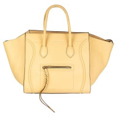 CELINE yellow leather MEDIUM PHANTOM LUGGAGE Tote Bag