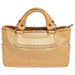 Celine Yellow Perforated Leather Boogie Tote