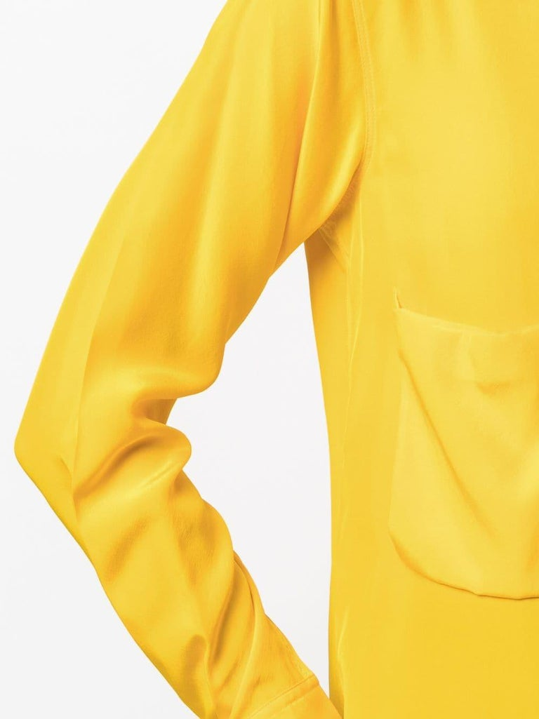 Women's Céline Yellow Silk Shirt For Sale