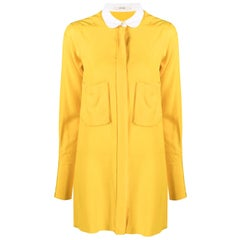 Céline Yellow Silk Shirt