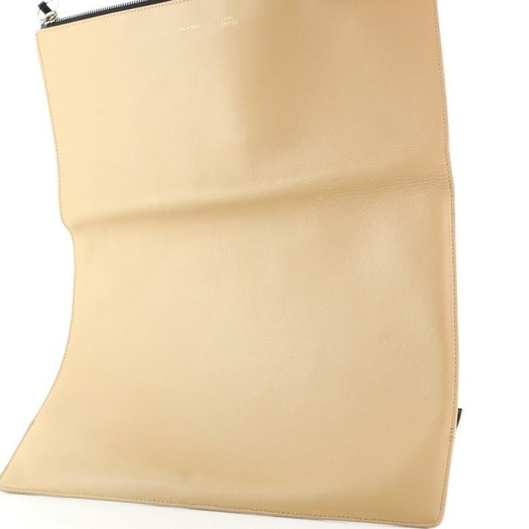 Celine Zip Clutch Leather Oversized For Sale 3