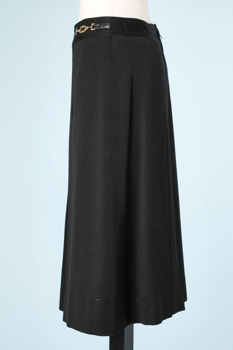 Céline's black skirt In Excellent Condition For Sale In Saint-Ouen-Sur-Seine, FR