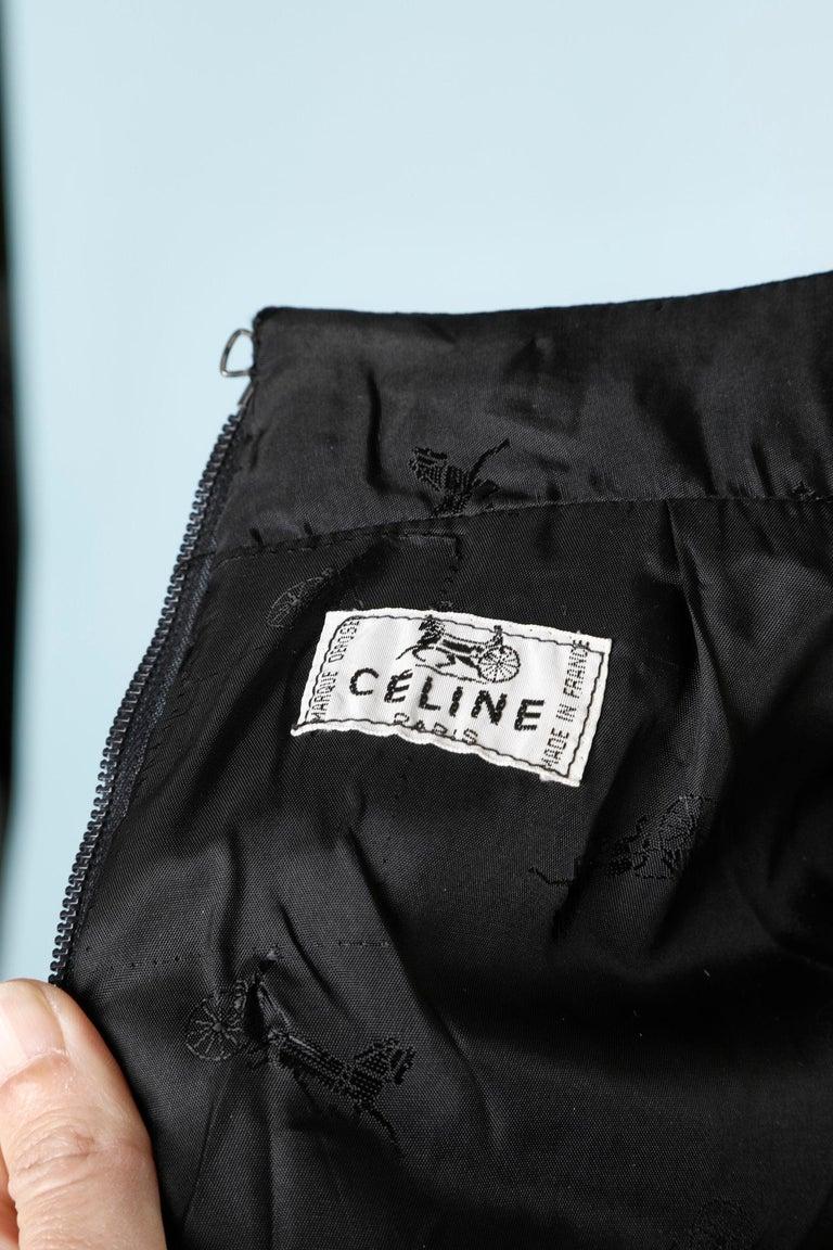 Céline's black skirt For Sale 1