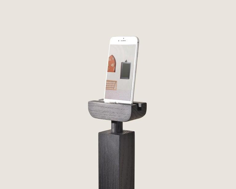 Modern Cell Tower in Ebonized Oak by Algierwork For Sale