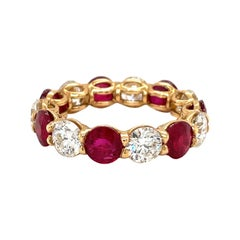 Cellini 18kt Yellow Gold 3.99ct Ruby & 2.93ct Diamond Uternity Band Ring