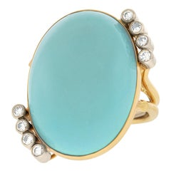 Cellino Persian Turquoise-Set Gold Ring