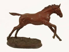 Running Horse; Célou Bonnet (French); bronze; edition 3/10