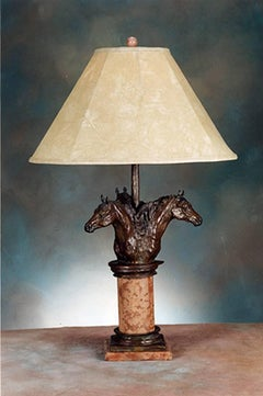 The Triple Crown lamp; Célou Bonnet (French); bronze; edition of 7
