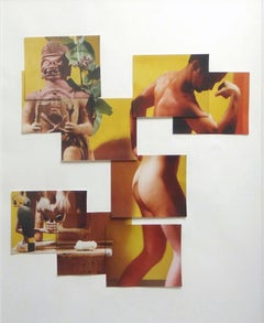 """Buscando Papá"", Photo Collage, 1995 Framed"