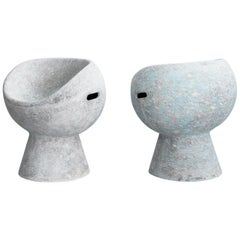 Cement Pod Chairs by Willy Guhl