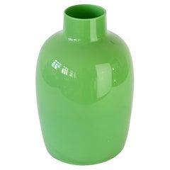 Cenedese Large Green Vintage Italian Venetian Murano Glass Vase