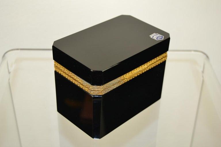 Cenedese Murano Black Jewelry Box, 1950s For Sale 5