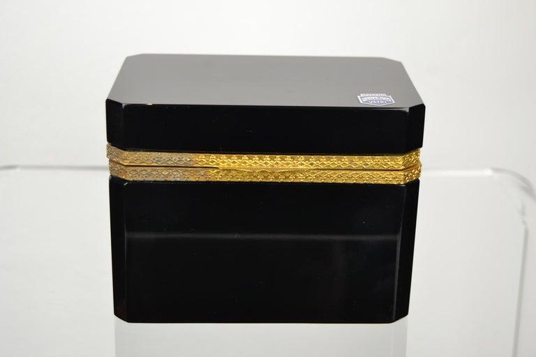 Cenedese Murano Black Jewelry Box, 1950s For Sale 6
