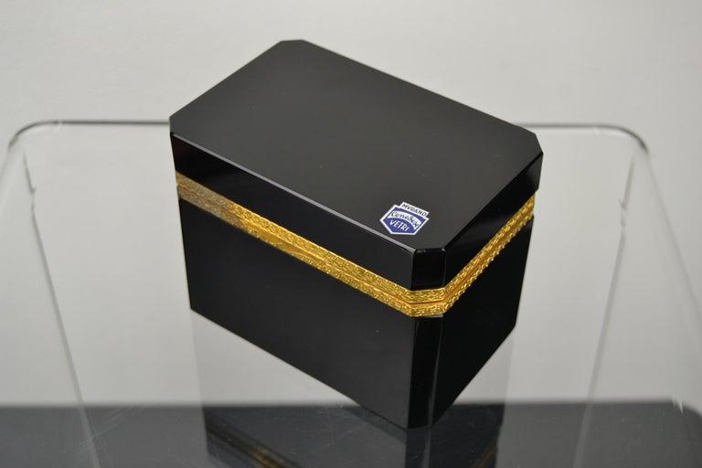 Cenedese Murano Black Jewelry Box, 1950s For Sale 7