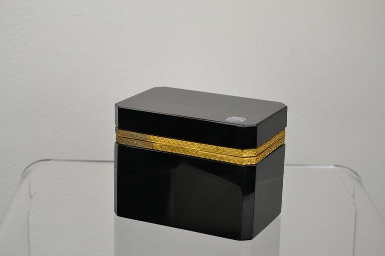 Cenedese Murano Black Jewelry Box, 1950s For Sale 8