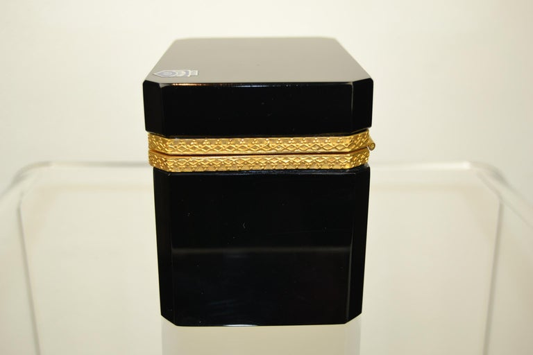 Italian Cenedese Murano Black Jewelry Box, 1950s For Sale
