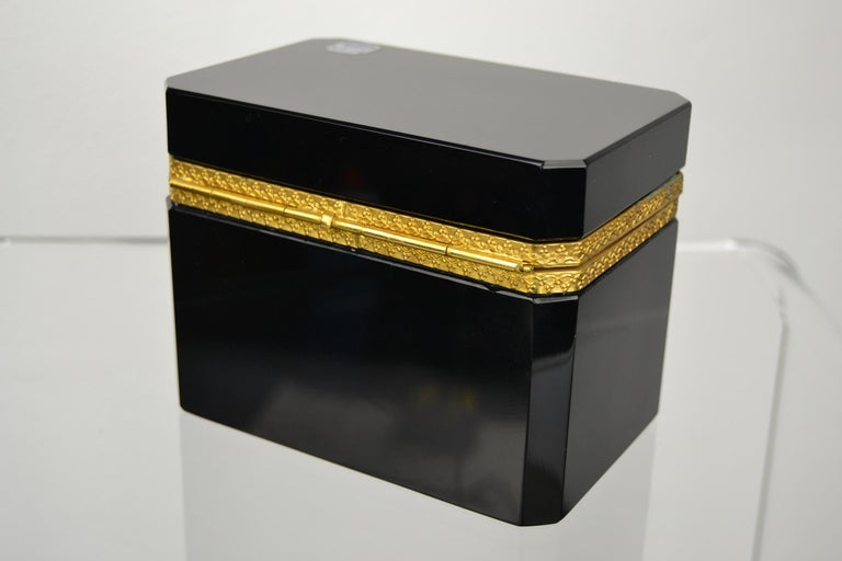 Cenedese Murano Black Jewelry Box, 1950s In Good Condition For Sale In Antwerp, BE