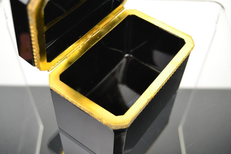 Cenedese Murano Black Jewelry Box, 1950s For Sale 1