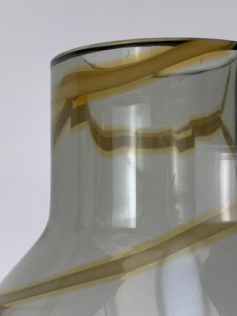 Cenedese Murano Mid Century Blown Glass Big Vase Signed For Sale 5
