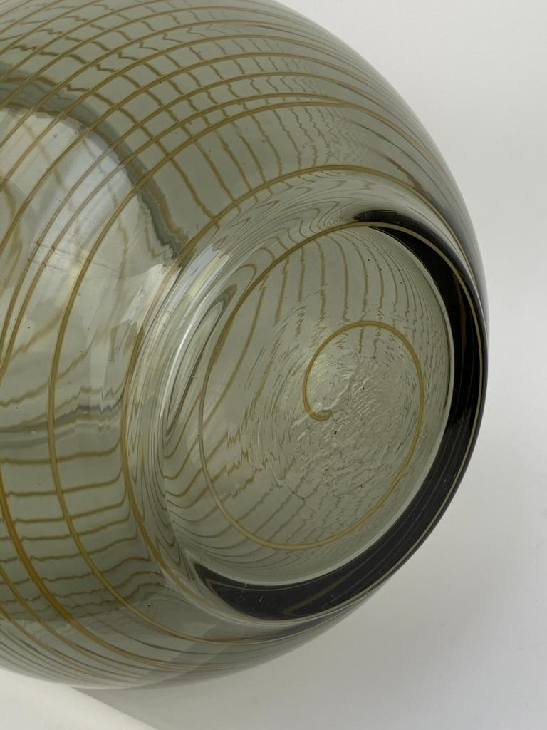 Cenedese Murano Mid Century Blown Glass Big Vase Signed For Sale 8