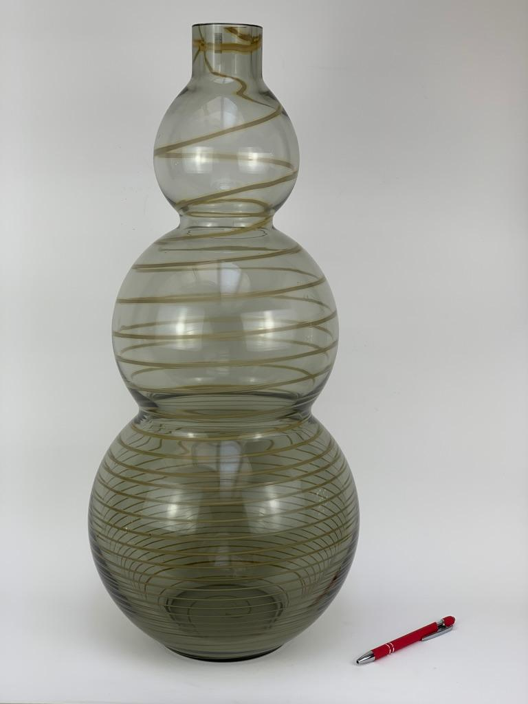 Cenedese Murano Mid Century Blown Glass Big Vase Signed In Good Condition For Sale In Firenze, IT
