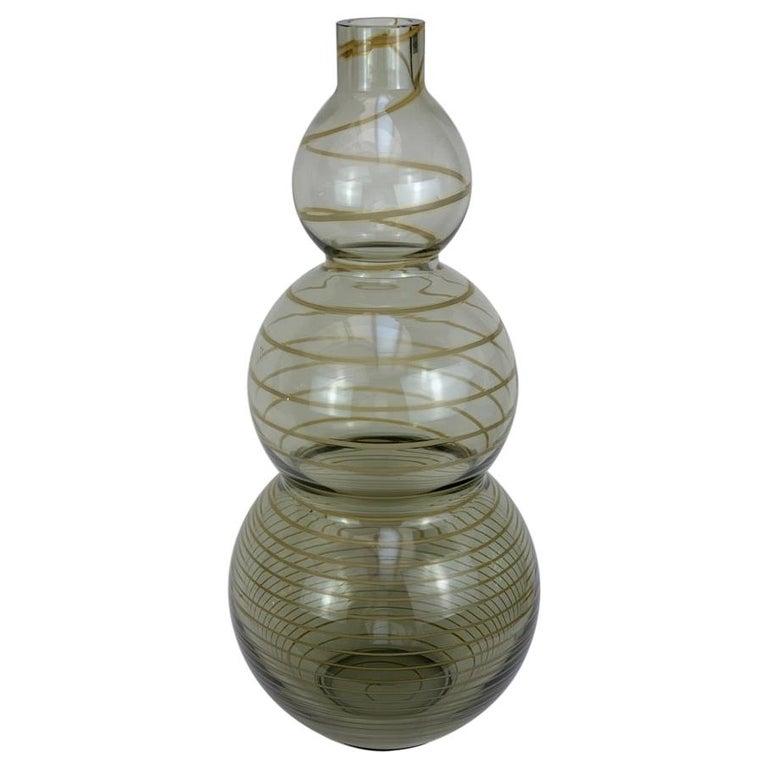 Cenedese Murano Mid Century Blown Glass Big Vase Signed For Sale