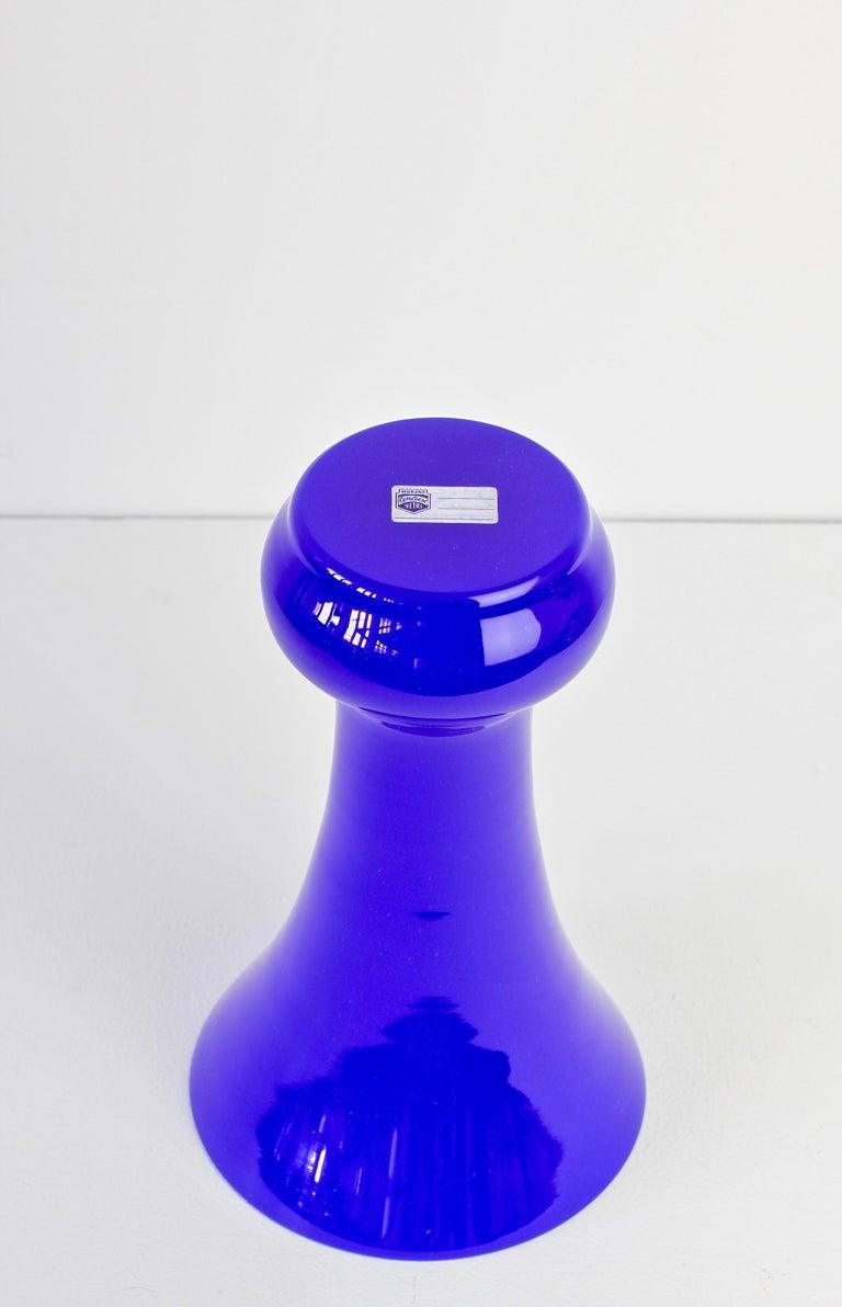 Cenedese Tall Blue Vintage Italian Murano Glass Urn or Vase 7
