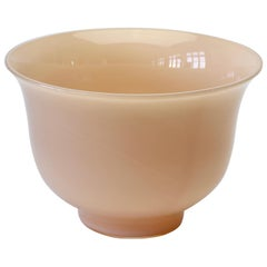 Cenedese Vintage Midcentury Italian Nude Pink Murano Glass Bowl, Vase or Dish