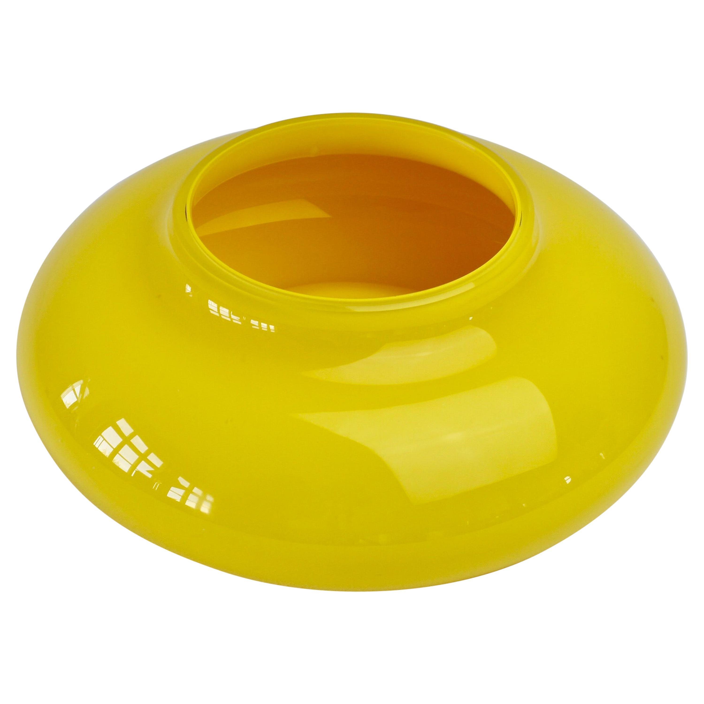 Cenedese Yellow Mid-Century Modern Italian Murano Glass Bowl or Vase