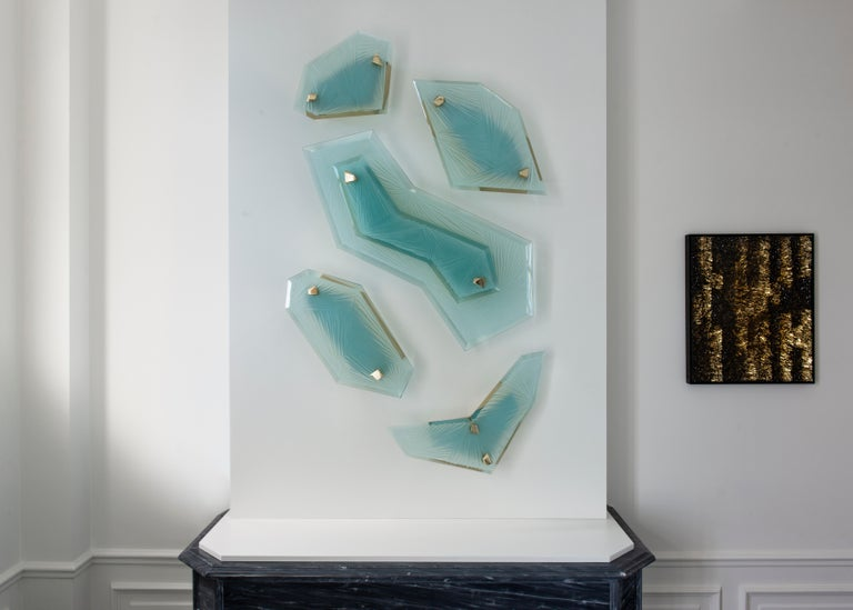 Polished 'Cenote' Sculptural Wall Sconce 1 Made in Studio Glass by Domenico Ghirò For Sale
