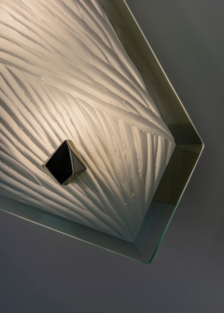 'Cenote' Sculptural Wall Sconce 1 Made in Studio Glass by Domenico Ghirò For Sale 1