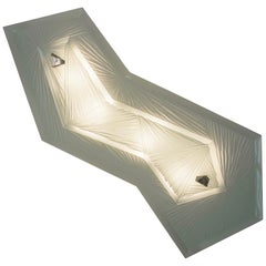 'Cenote' Sculptural Wall Sconce 1 Made in Studio Glass by Domenico Ghirò