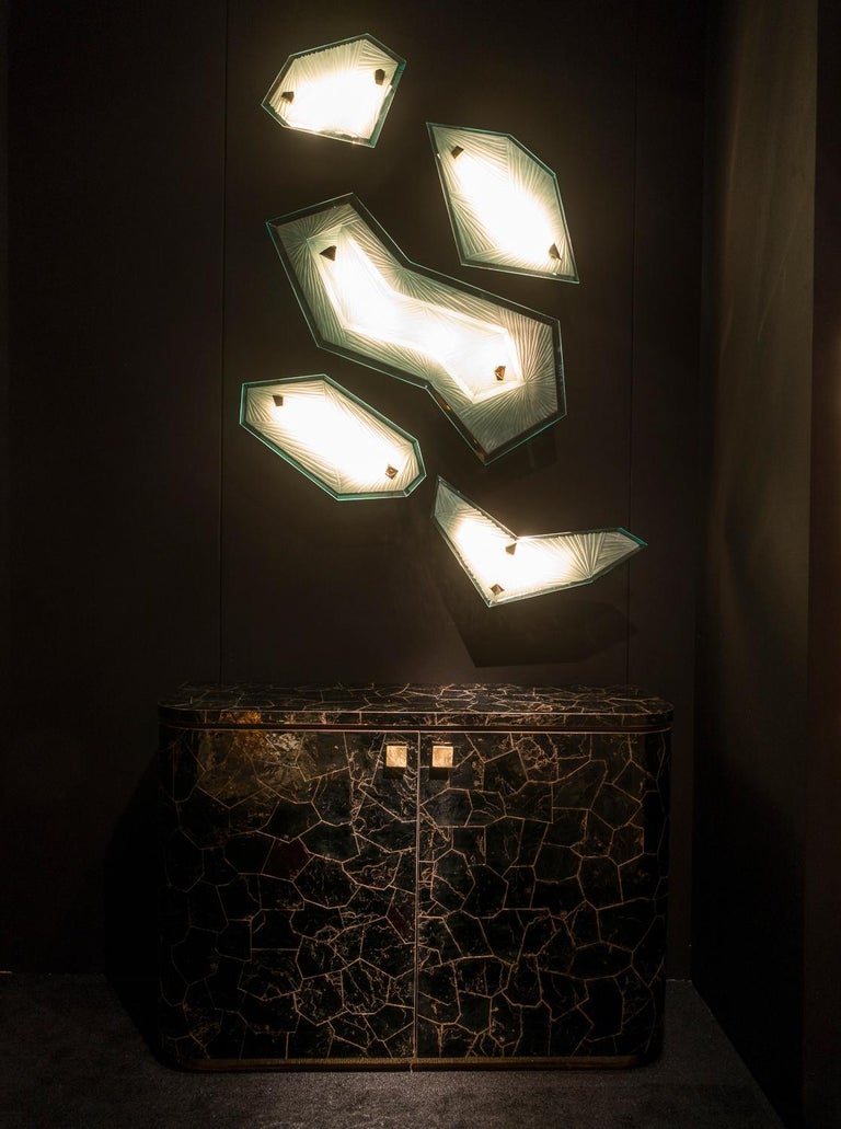 'Cenote' Sculptural Wall Sconces Made in Studio Glass by Domenico Ghirò For Sale 1