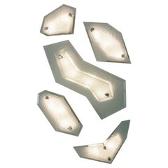 'Cenote' Sculptural Wall Sconces Made in Studio Glass by Domenico Ghirò