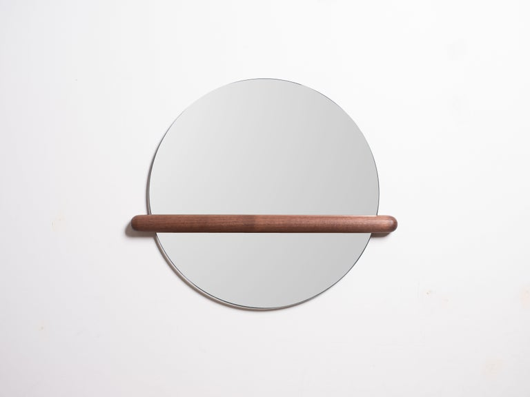 American Censor Mirror by Harold in Solid Wood For Sale