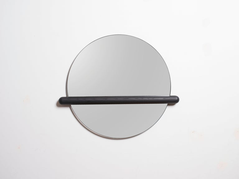 Ash Censor Mirror by Harold in Solid Wood For Sale